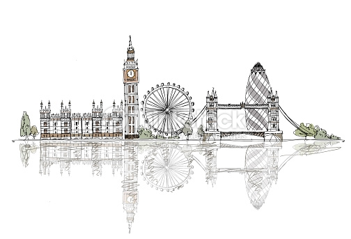 drawn-big-ben-london-bridge-15